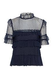 Rachel dotted blouse - DEEP BLUE