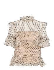 Rachel dotted blouse - SOFT BEIGE
