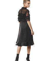 By Malina - Rachel blouse - kortärmade blusar - black - 5