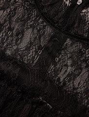By Malina - Rachel blouse - kortärmade blusar - black - 6