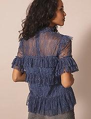 By Malina - Rachel blouse - kortärmade blusar - indigo blue - 3