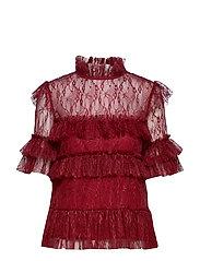 Rachel blouse - RUBY RED