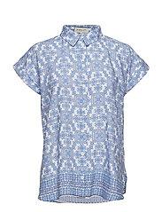 Paisley blouse - OCEAN BREEZE