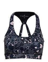 Sports bra - SHADOW GARDEN BLUE
