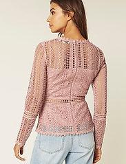 By Malina - Marilene blouse - långärmade blusar - rosé - 5