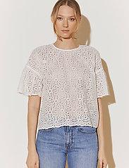 By Malina - Callie blouse - kortärmade blusar - white - 0