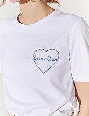 By Malina - Darling tee - t-shirts - white - 4