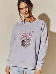 By Malina - Noodle sweatshirt - sweatshirts - grey melange - 0