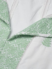 By Malina - Rose blouse - långärmade blusar - green mist - 2