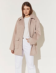 By Malina - Claire jacket - wool jackets - soft beige - 0