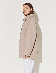 By Malina - Claire jacket - wool jackets - soft beige - 4