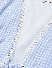 By Malina - Frances top - kortärmade blusar - blue checker - 7