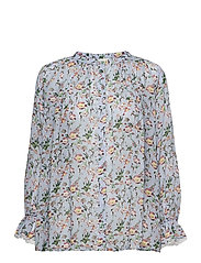 Ivey blouse - FRENCH ROSE SKY BLUE