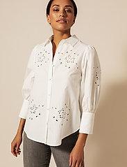 By Malina - Edwina shirt - chemises à manches longues - white - 0