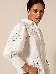 By Malina - Edwina shirt - chemises à manches longues - white - 3