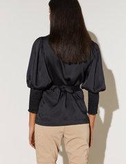 By Malina - Hope blouse - långärmade blusar - black - 3