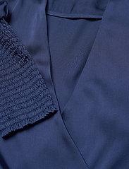 By Malina - Hope blouse - långärmade blusar - deep blue - 2