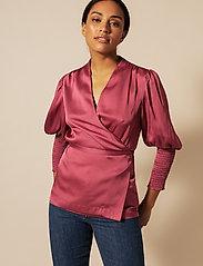 By Malina - Hope blouse - långärmade blusar - dusty raspberry - 0