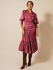 By Malina - Hope blouse - långärmade blusar - dusty raspberry - 4
