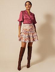 By Malina - Hope blouse - långärmade blusar - dusty raspberry - 5