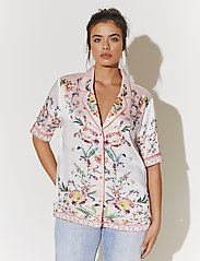By Malina - Giselle shirt - kortärmade blusar - french rose pale pink - 0