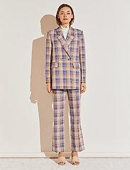 By Malina - Charlie blazer - oversize kavajer - blue check - 0