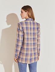 By Malina - Charlie blazer - oversize kavajer - blue check - 4