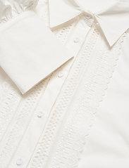By Malina - Skylar shirt - långärmade blusar - white - 5