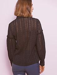 By Malina - Juno blouse - långärmade skjortor - black - 4