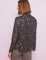 By Malina - Zoey blouse - långärmade blusar - black sparkle - 3