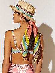 By Malina - Silk scarf 65x65 - sjalar & halsdukar - inca coral rose - 6