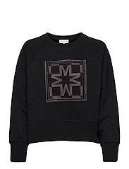 Iconic cropped sweatshirt - BLACK