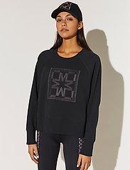 By Malina - Iconic cropped sweatshirt - sweatshirts & hoodies - black - 0