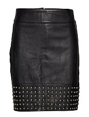 Aya leather skirt - BLACK