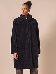 By Malina - Adrielle faux fur coat - faux fur - indigo blue - 4