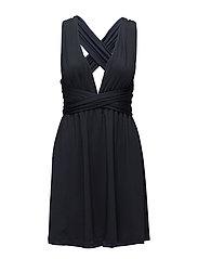 Lola wrap mini dress - DARK BLUE