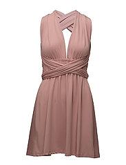 Lola wrap mini dress - DUSTY PLUM