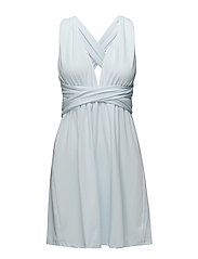 Lola wrap mini dress - EUCALYPTUS