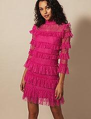 By Malina - Carmine mini dress - cocktailklänningar - cerise - 0