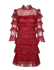Carmine mini dress - RUBY RED