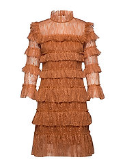 Carmine mini dress - SPICED HONEY