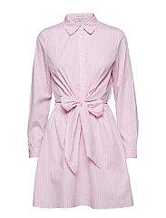Nella shirt dress - PINK/WHITE STRIPE