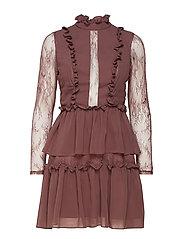 Gina mini dress - AUBERGINE