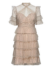 Liona dotted dress - SOFT BEIGE