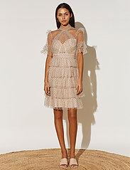 By Malina - Liona dotted dress - cocktailklänningar - soft beige - 0