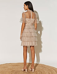 By Malina - Liona dotted dress - cocktailklänningar - soft beige - 5