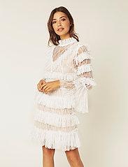 By Malina - Rosa dress - cocktail-kjoler - white - 0