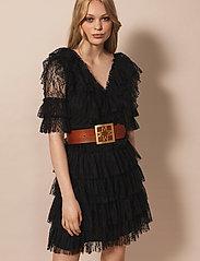 By Malina - Sky dress - spetsklänningar - black - 0