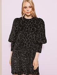 By Malina - Rubina velvet dress - cocktailklänningar - black sparkle - 0