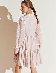 By Malina - Allie shirt dress - sommarklänningar - pale pink stripe - 3